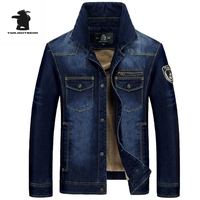 New Brand Men S Casual Denim Cotton Jacket Fashion High Quality Thickening Winter Denim Jacket Men