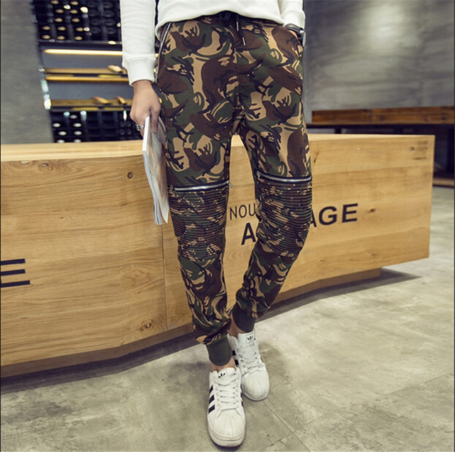 Size M-XL Mens Joggers Spring Army Casual Harem Pants Men Skinny Camouflage Pants Fashion Military Trousers Hot
