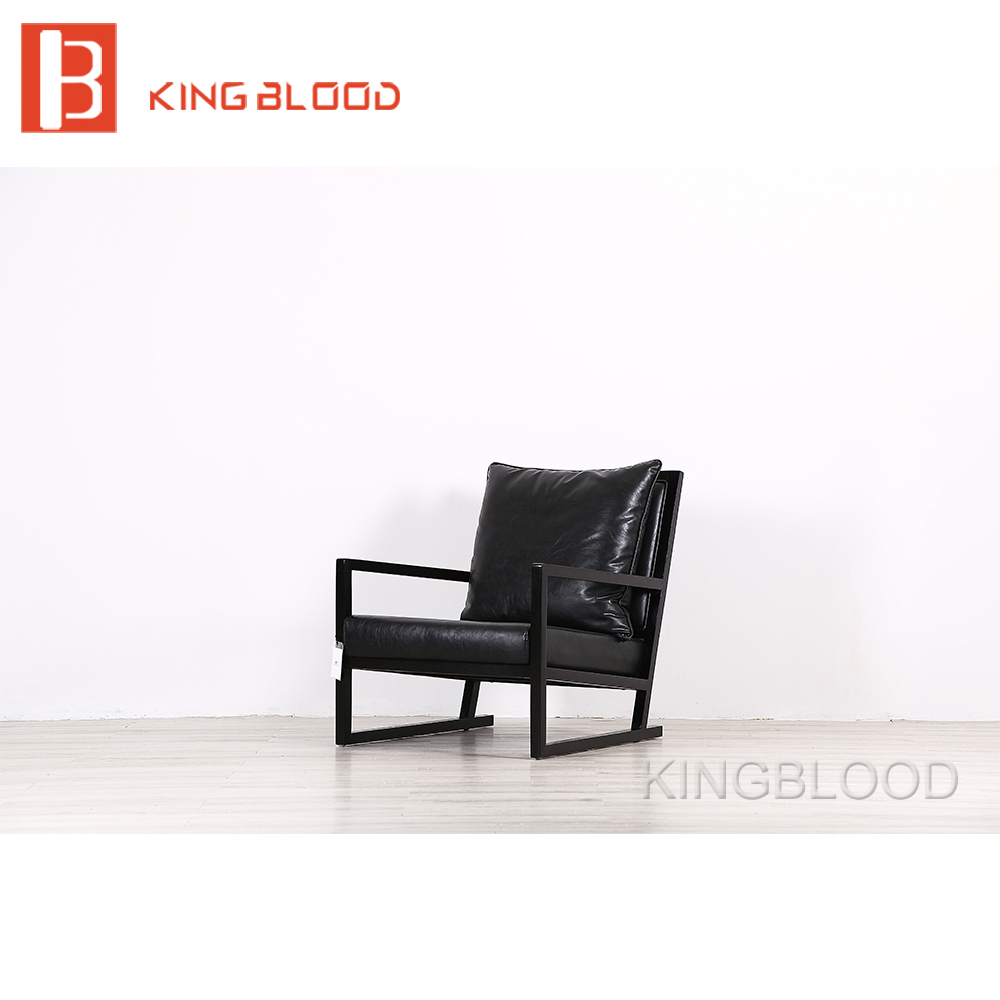living room  chair modern American style black single private villa living room chair retail