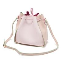 Korean New Fashion PU Bags All matched Bukets Women Pink Blue High Quality Mini Shoulder Bag Handbags adorable girl phone bag