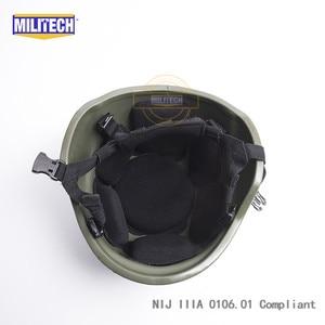 Image 5 - Militech OD Oliver Drab PASGT NIJ IIIA 3Aเต็มรูปแบบBallistic Bulletproof Aramid Bullet Proofหมวกกันน็อกLabการทดสอบวิดีโอ