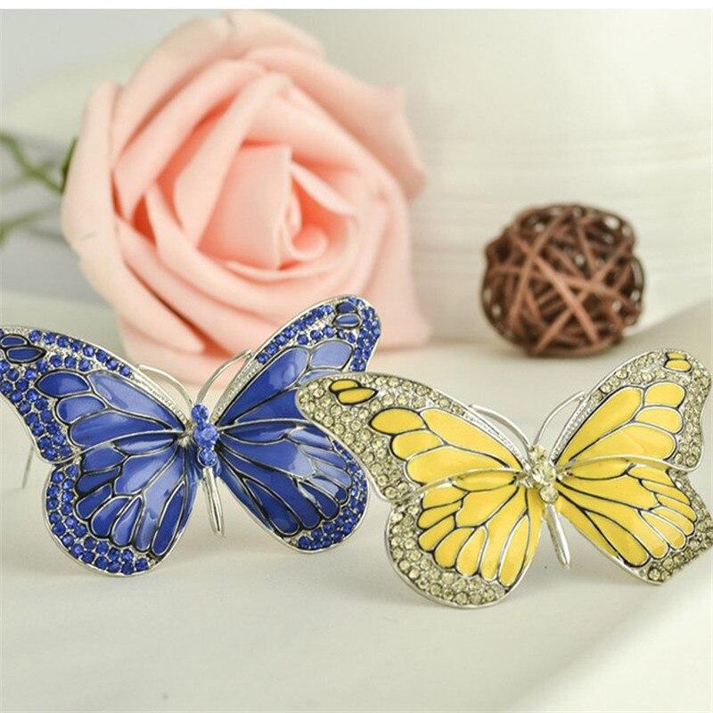 Nye høj kvalitet sommerfugl broche pin Crystal Rhinestone smukke - Mode smykker - Foto 4