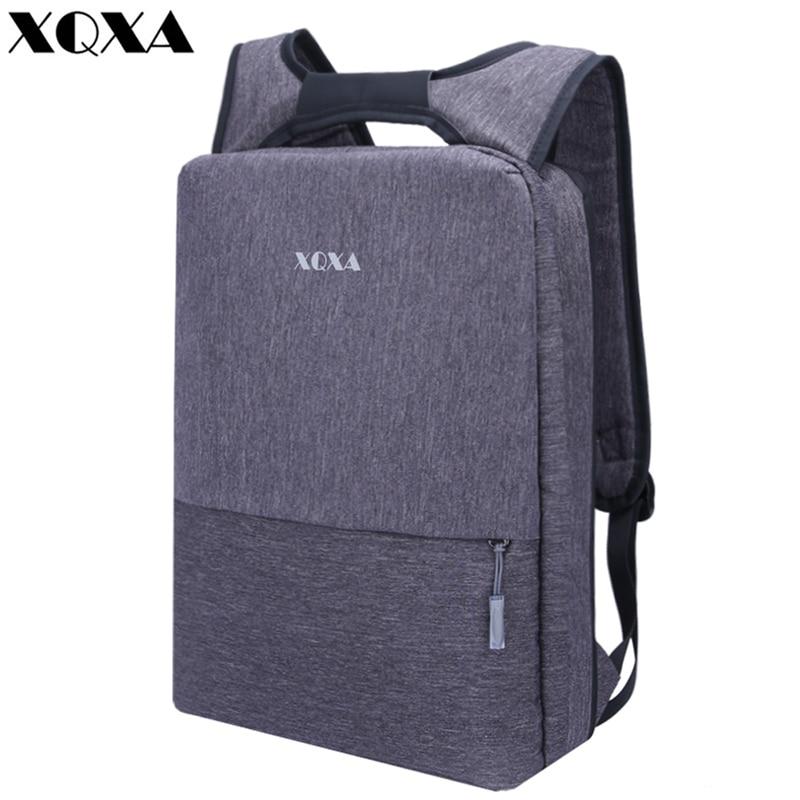 XQXA Light Slim Backpack Men Lightweight 13 14 15.6 Inch Laptop Notebook Backpacks Women Waterproof Thin Business Urban Backpack new design light slim backpack men lightweight 15 inch laptop notebook backpacks women waterproof business anti theft backpack