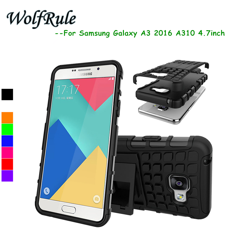 Հեռախոսային գործի համար Samsung Galaxy A3 2016 Cover Shockproof TPU + PC Case for Samsung Galaxy A3 2016 Case A310F Samsung A3 2016