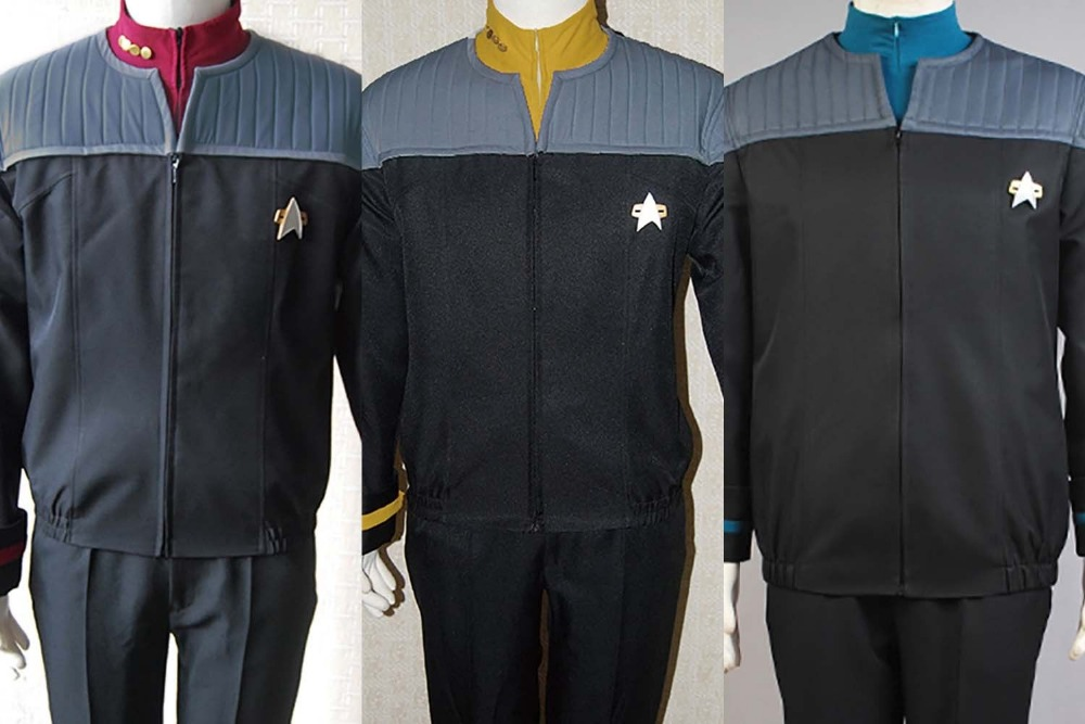 Star Cosplay Trek NEM Duty Uniform Cosplay Costume Jacket Outfit Red Yellow Blue Coat+Shirt+Pants+Badge image