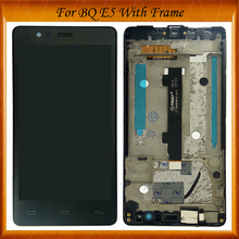 100% Tested OK  For BQ Aquaris BQ E5 E5.0 0858 0982 0760 0759 LCD Display Touch Screen Mobile Phone LCD Assembly With Frame цены