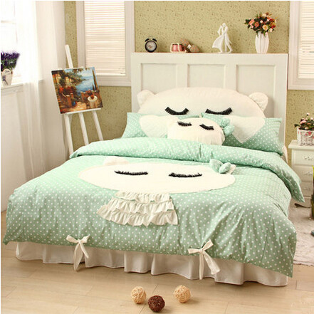 Su0026V Luxury Bedding Sets Girls Bedclothes Designer Bed Linen Cartoon Lace  Duvet Covers Cotton Christmas Bedskirt