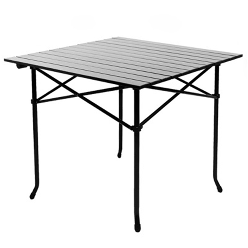 2018 Outdoor Folding Table Chair Camping Aluminium Alloy Picnic Table Waterproof Durable Folding Table Desk For 75*75*70cm outdoor camping folding table camping aluminium alloy picnic table waterproof 600doxford durable folding table desk for picnic
