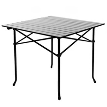 2018 Outdoor Folding Table Chair   Camping Aluminium Alloy Picnic Table Waterproof Durable Folding Table Desk For 70*70*69cm