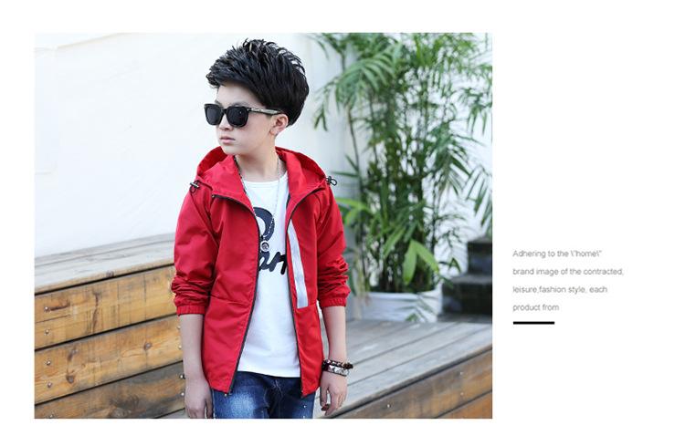 58cbf0323 Kids Casual Coat Spring Autumn Cardigan Hooded Jacket For Boys 3 ...