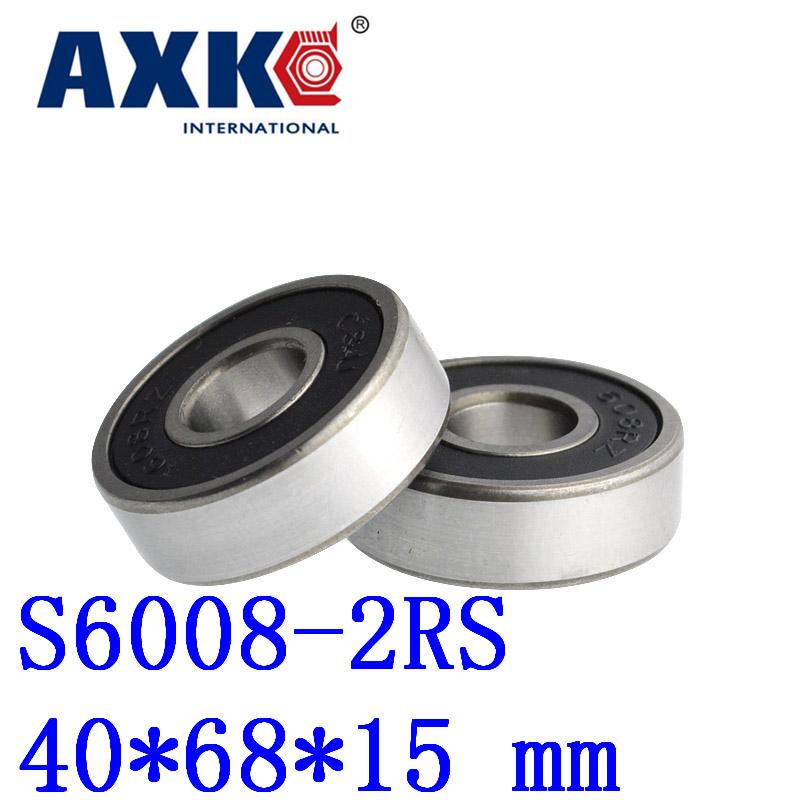 1pcs Free Shipping Sus440c Environmental Corrosion Resistant Stainless Steel Bearings (rubber Seal Cover) S6008-2rs 40*68*15 Mm 1pcs sus440c environmental corrosion resistant stainless steel bearings rubber seal cover s6907 2rs 35 55 10 mm