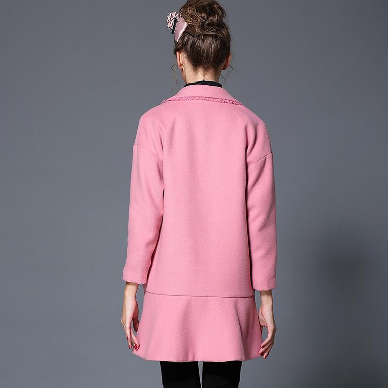 Hiver Manteau Taille Mode Automne 4xl Dames Laine xxxl Femmes L 2016 Manteaux Imprimer La Plus Chaud Caractère De 5xl Ruches 78xXzw