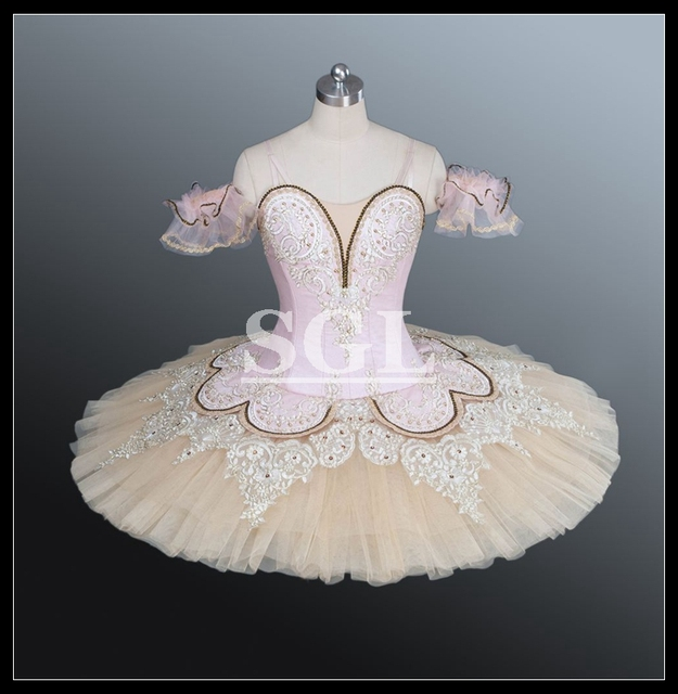 Free Shipping Pink Tutu Adult Women Girls Child Professional Custom Made  Tutu For Many Classical Variations Ballet Tutus AT1158