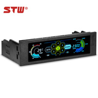 STW 5036 5.25 Drive Bay PC case Fan Computer CPU Cooling LCD Front Panel Temperature Controller Fans Speed Control for Desktop