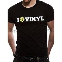 """I Love Vinyl"" 45 RPM vinyl record t-shirt"