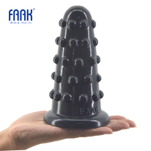 FAAK Big anal plug beads anal dildo raised dots sex toys for women men huge butt plug anus massage vagina stimulate sex shop new big beads stimulating huge anal butt plug anal dildo vagina anus massager adult sex products for woman sex toys for couples