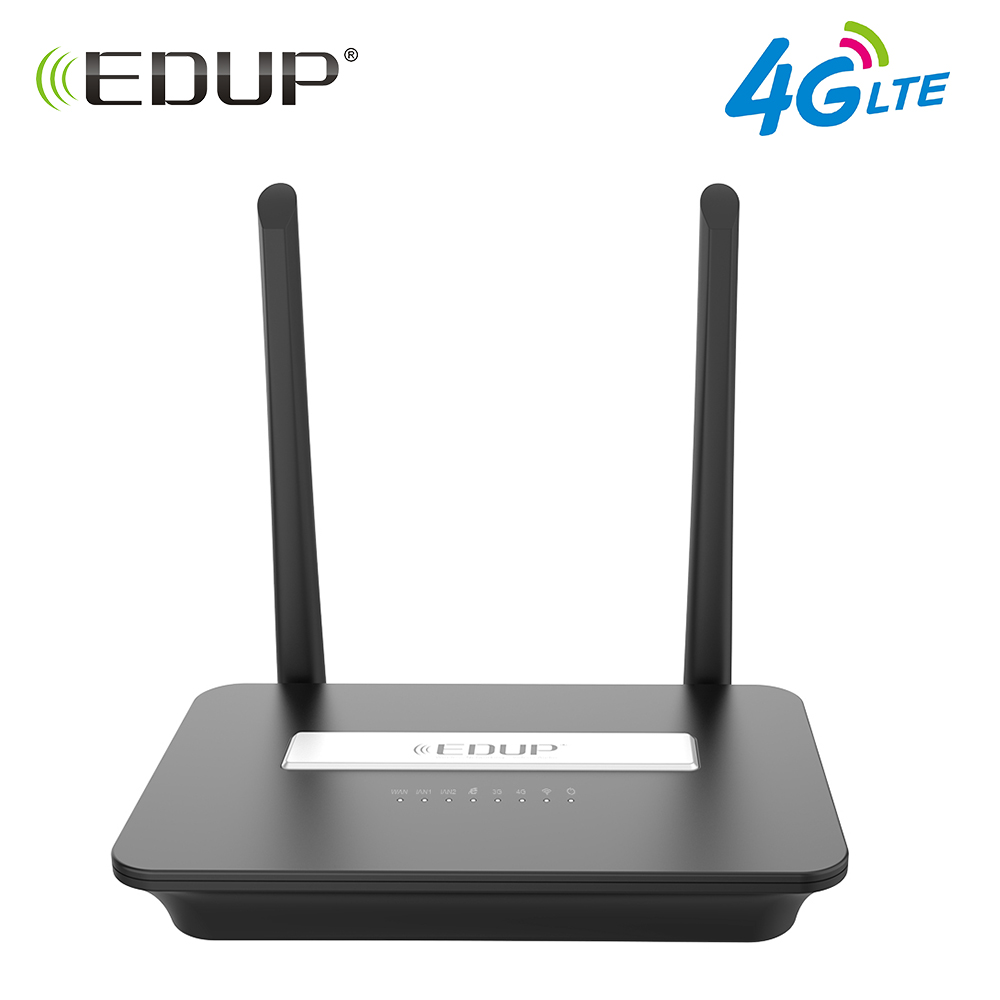 купить EDUP 300Mbps 4G LTE FDD Wireless Wifi Router 802.11b/g/n Wi-Fi Router Mobile Hotspot Routers CPE with Sim Slot and LAN Port по цене 3917.74 рублей