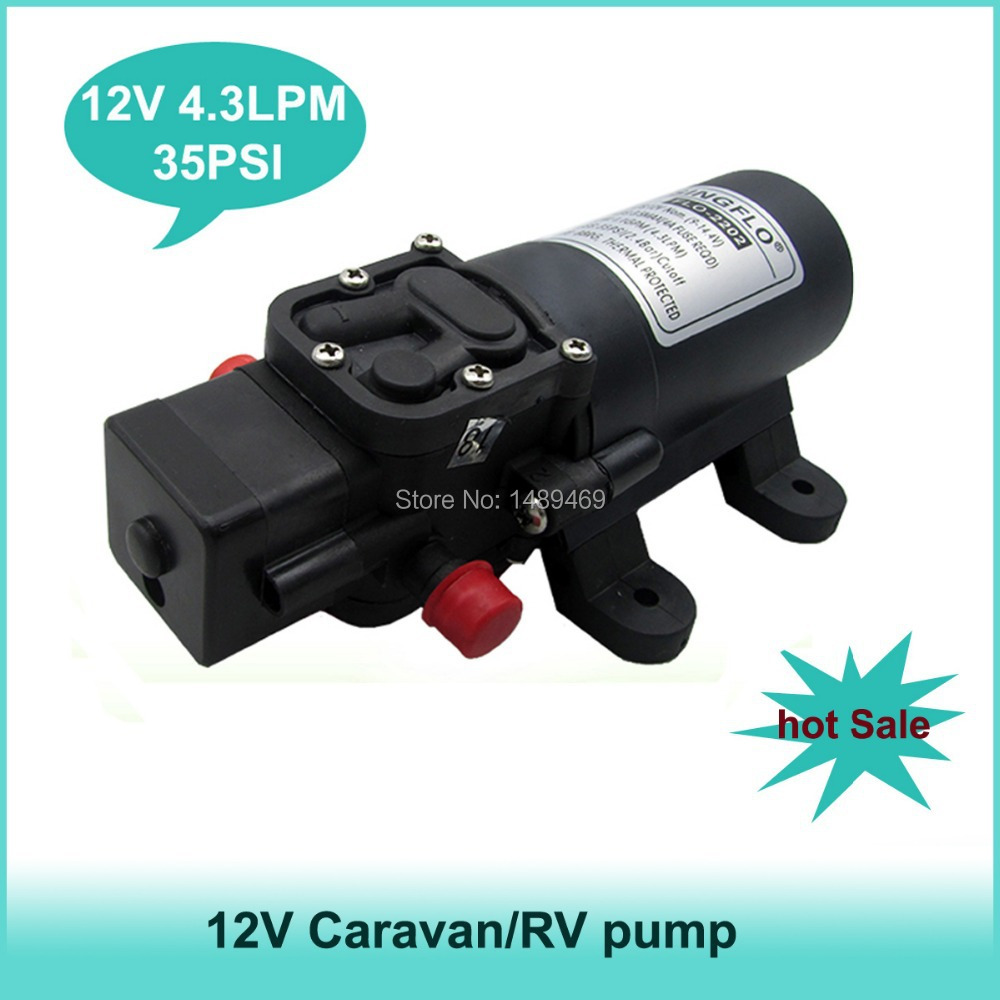 Hot sale 35PSI 4.3Lpm Self-Priming RV, Shower,Motorhome,Marine,Caravan water pump 12v ...