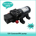 Hot sale  35PSI 4.3Lpm Self-Priming RV, Shower,Motorhome,Marine,Caravan water pump 12v