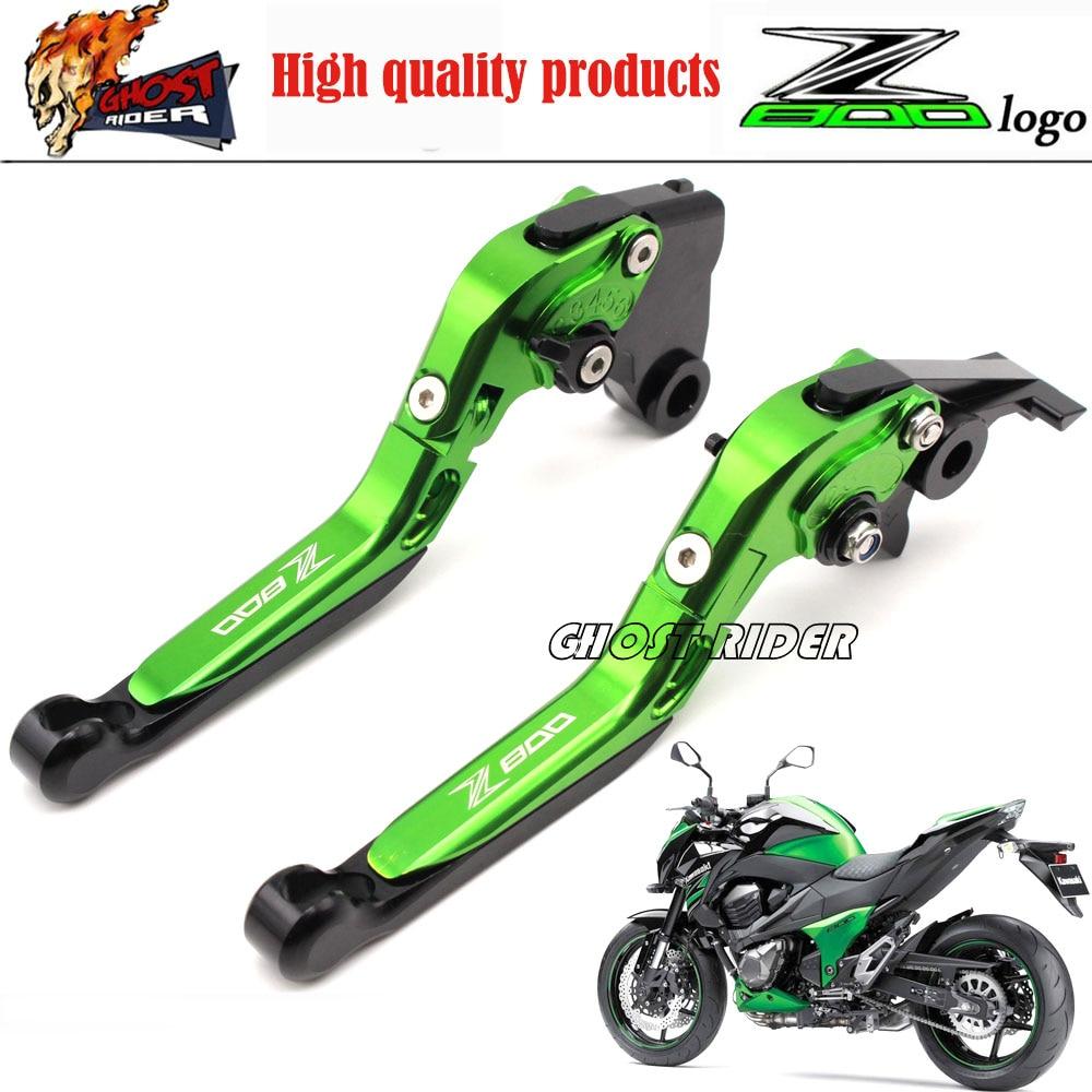ФОТО New Adjustable Foldable Extendable Motorbike Brakes Clutch CNC Levers Kawasaki Z800 E version 2013 2014 2016 2015 Free Shipping
