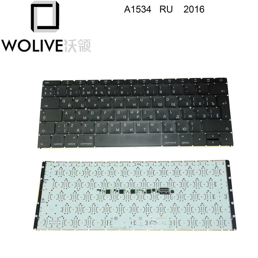 Wolive Genuine Russian keyboard for MacBook Retina 12 A1534 RU Keyboard 2016Wolive Genuine Russian keyboard for MacBook Retina 12 A1534 RU Keyboard 2016
