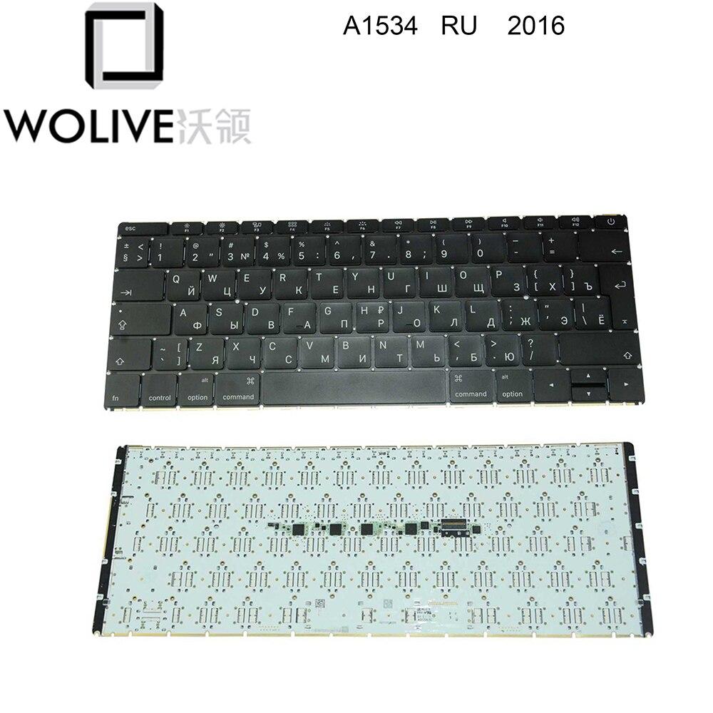 """Wolive Genuine Russian keyboard for MacBook Retina 12"""" A1534 RU Keyboard 2016"""