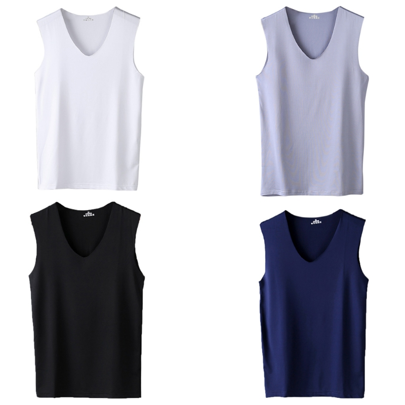 Men's Seamless Bouncy   Tank     Top   Sexy Comfortable Vest Undershirt Sleeveless Vest