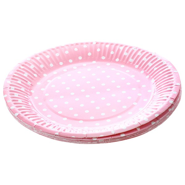 Aliexpress.com  Buy Practical 1bag 10 pieces 7\  Polka Dot Paper Plates for Valentine Birthday Wedding Nursery Party Tableware Party Supplies (Pink) from ...  sc 1 st  AliExpress.com & Aliexpress.com : Buy Practical 1bag 10 pieces 7\
