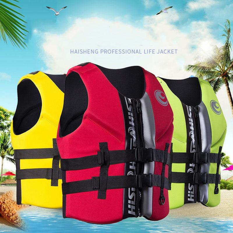 Gilet de sauvetage en Polyester pour adultes enfants universel en plein air pêche natation nautisme Ski à la dérive gilet de survie costume XS-XXXL