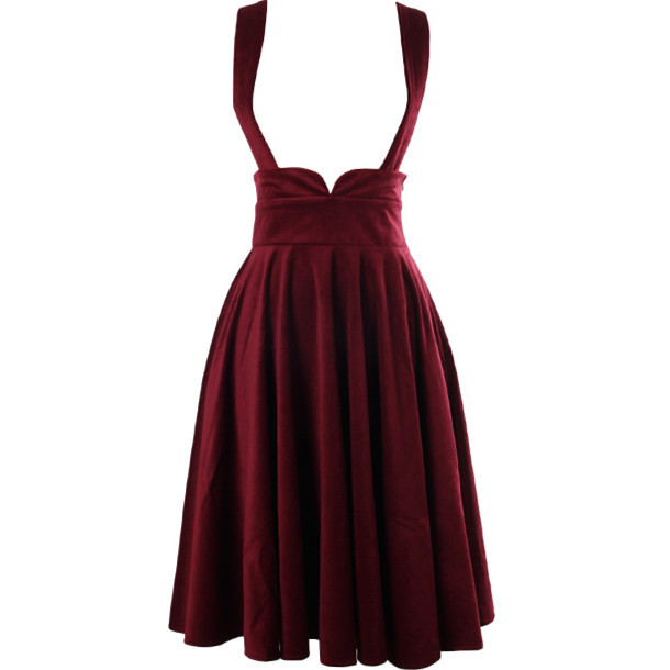 b88add2160819 40- women vintage 50s velvet circle swing skirt in burgundy plus size saia  femininas suspenders overalls braces pinup skirts