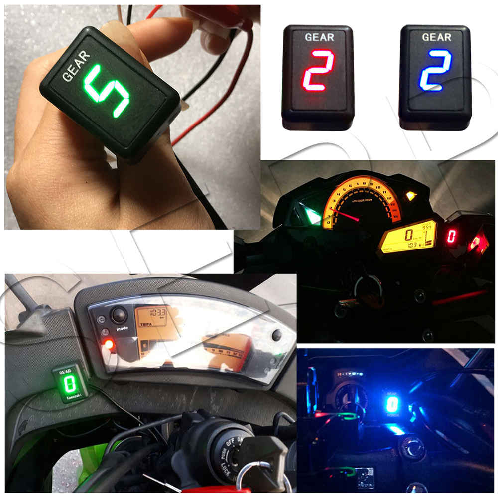 Motorcycle 1-6 Level Ecu Plug Mount Speed Gear Display Indicator For Suzuki  Intruder 800 V-Strom GSXR 600 SV650 750 SV 650