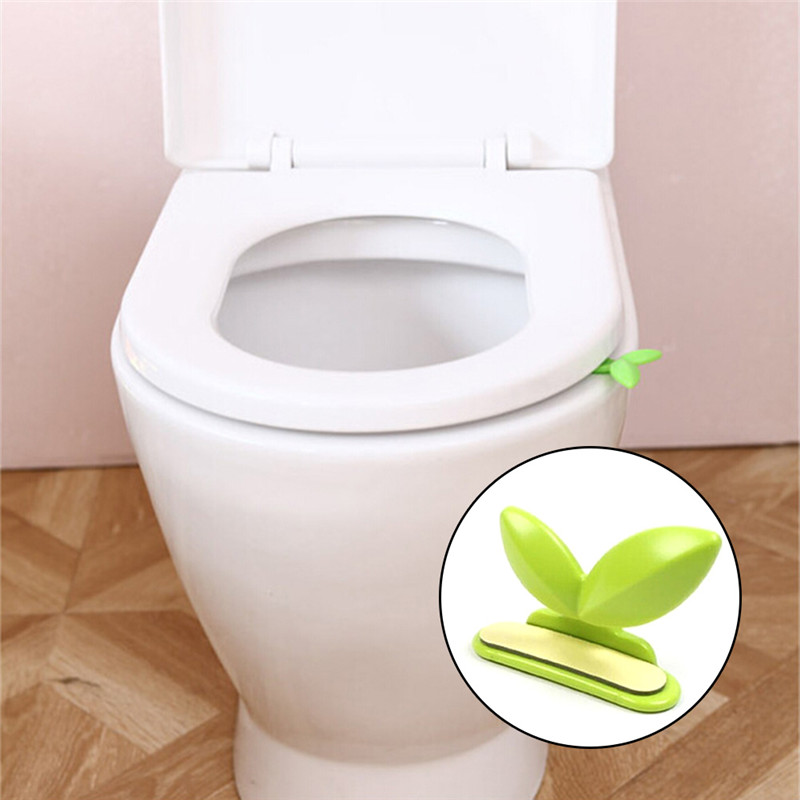 Toilet Lid Lifting Device Green Leaves Toilet Cover Lifting Handle Bathroom Portable Sanitary Closestool Seat Cover Lifter