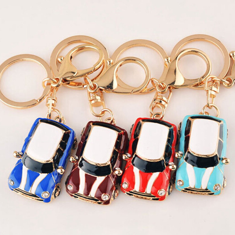 Car Alloy Keychain Keyring Pendant Car Model Key Chain Ring Holder For Mini Cooper S JCW Car Accessories image