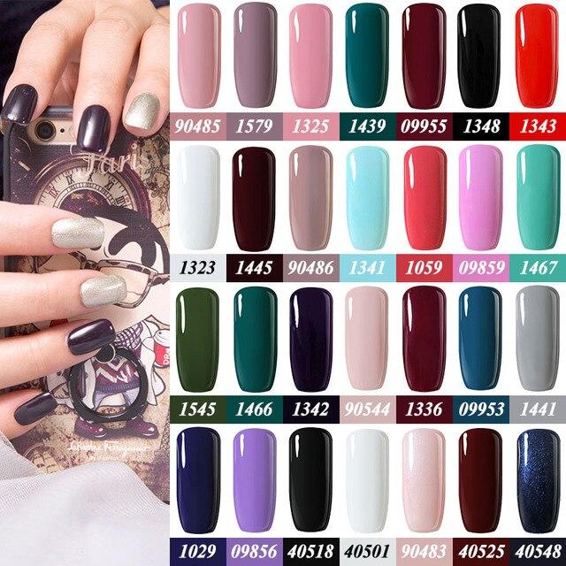Belle Fille 10ml Gel Paint Color Top Base Glitter Glue Nail UV Gel ...
