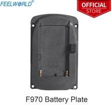 Placa de batería para monitores de campo de cámara Feelworld FW760 FW759 FW1018S A737 Etc y F970 F960