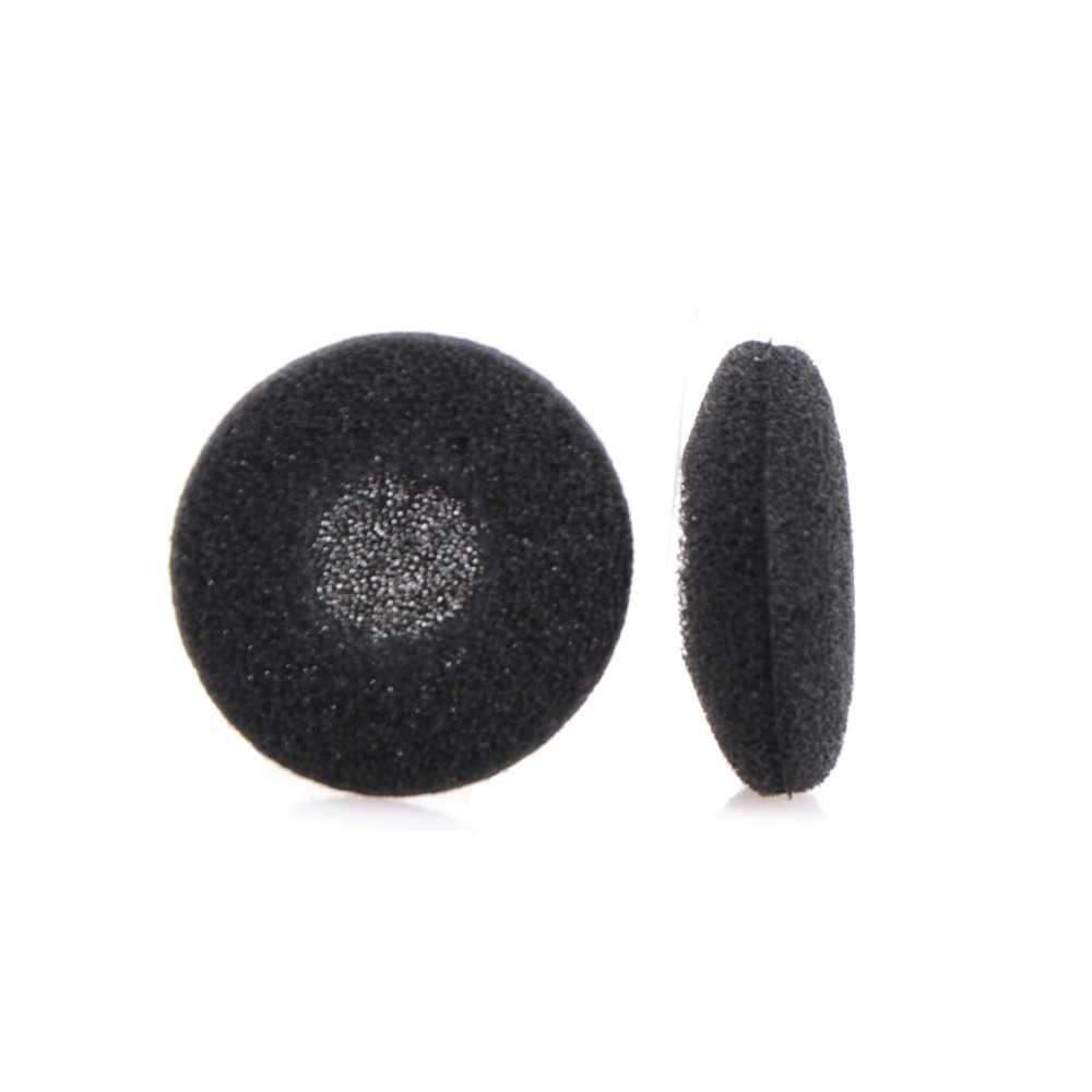 10 sztuk 18mm miękka pianka słuchawka douszna Wkładki do uszu wymiana gąbki okładki porady na słuchawki MP3 MP4 telefon komórkowy czarny