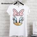 Women Summer 3D Cartoon Duck Print T Shirt Short Sleeve Casual Tees Tops Ladies O-neck Sequined Beading Fashion T-Shirts T946S