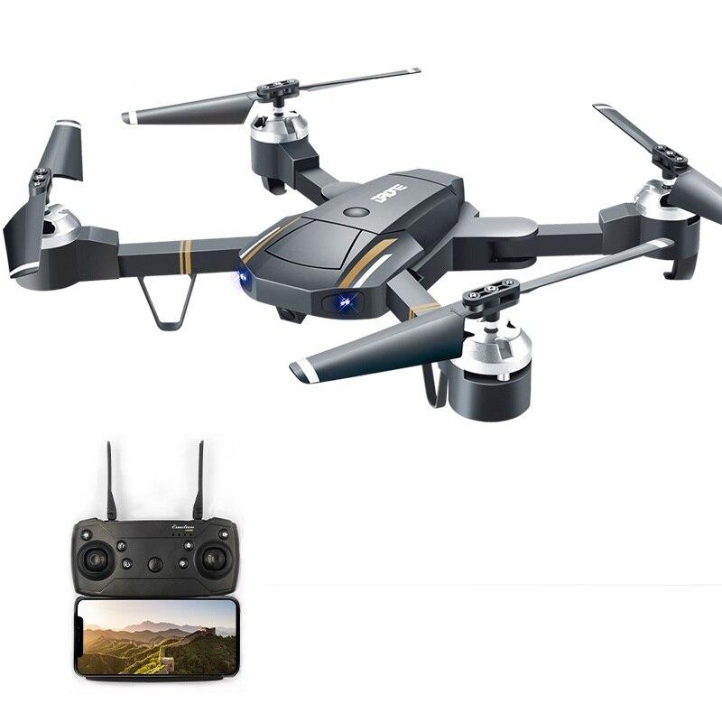 Drone pliable WIFI FPV RC 480 P 720 P caméra HD télécommande quadrirotor Altitude maintien une clé démarrage hélicoptère pliable VS E58