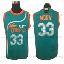 Mens Cheap throwback basketball jerseys Semi Pro  33 Jackie Moon Jersey  Flint Tropics Basketball Shirts 2b21465dc