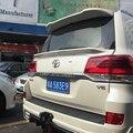 Для Land Cruiser спойлер на крыше ABS Материал заднее крыло автомобиля праймер цвет задний спойлер для Toyota Land Cruiser LC200 спойлер на крышу