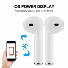Hot sales I7 i7s tws wireless Bluetooth Earphone Earbuds Headset With Mic for iphone pods xiaomi huawei all smartphones(China)