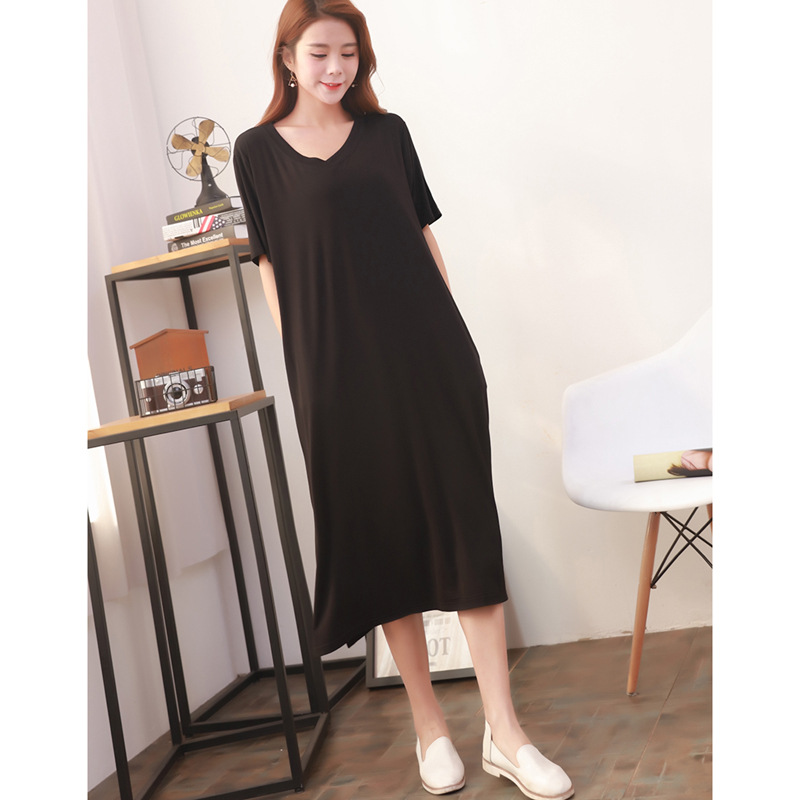 Maternity Clothings Dress Pregnant Woman Mother Short Sleeve Dresses Cotton Plus Long Clothes for Lady Maternity Dress L XL