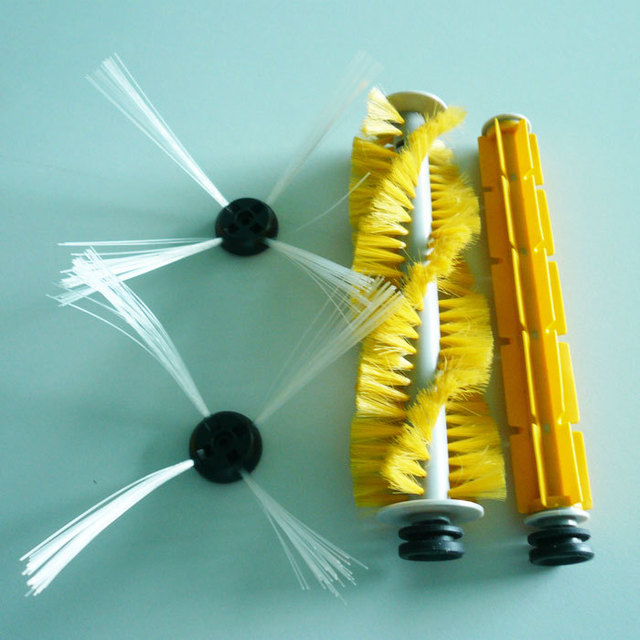 Just For SQ-A325 Robot Vacuum Cleaner accessories ,Sider Brush,Hair Brush,Rubber Brush.