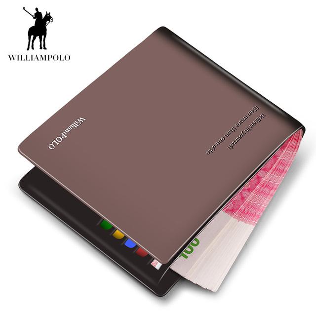 Short Wallets Black Brown Bifold Wallet Mens Brand Leather Card Holder Money Cash Wallet Purses