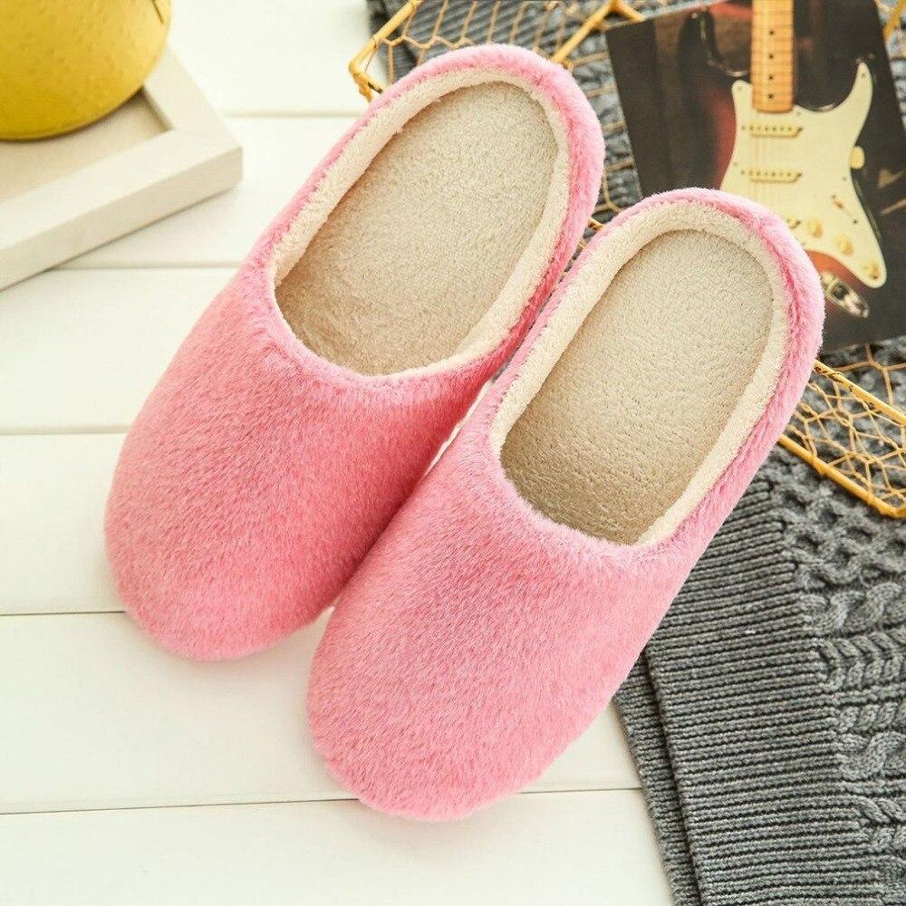 New Velvet Plush Warm Winter Slippers for Lovers Home Slippers Wome&Men pink gray color zapatos mujer Indoor Slippers lovers short plush winter warm indoor slippers casual men