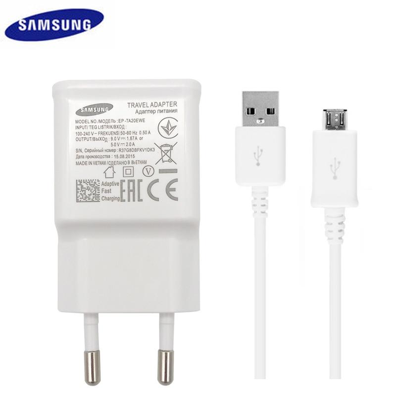 100 Original Samsung Quick Charge 2 0 Adaptive Fast Charger 9V 1 67A 5V 2A EU