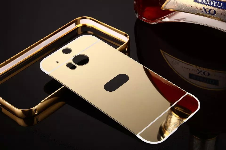 htc one m8 gold case. Aliexpress.com : Buy For HTC One M8 Luxury Golden Plating Aluminum Frame + Mirror Acrylic Back Cover Case Phone Protective From Reliable V8 Suppliers Htc Gold H