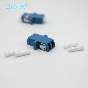 Image 3 - LC UPC 二重シングルモード光ファイバアダプタ Lc 光ファイバカプラ LC UPC ファイバ LC コネクタ送料無料