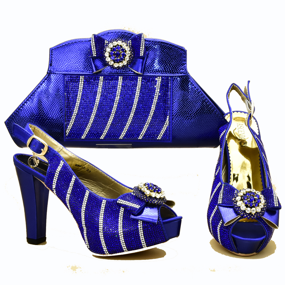 Size 37 to 42 italian shoes and bag set royal blue italy shoes and bag matching set high heel sandal shoes and bag set SB8318-2Size 37 to 42 italian shoes and bag set royal blue italy shoes and bag matching set high heel sandal shoes and bag set SB8318-2
