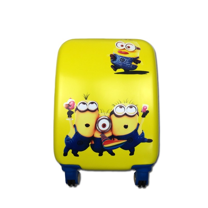 18 20 inch Children rolling minions luggage Trolley Cartoon Trolley  Box Student Boy Caster Round Trip suitcase18 20 inch Children rolling minions luggage Trolley Cartoon Trolley  Box Student Boy Caster Round Trip suitcase
